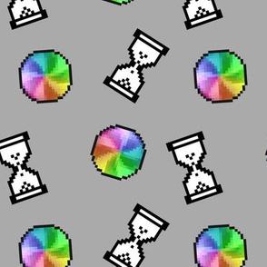 Computer Loading Symbols - Grey
