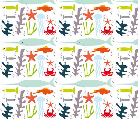 under the sea_animaux aquatiques fabric by alandco on Spoonflower - custom fabric