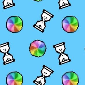 Computer Loading Symbols - Blue