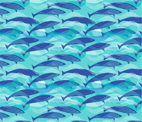 DancingDolphins fabric by alanajelinek on Spoonflower - custom fabric
