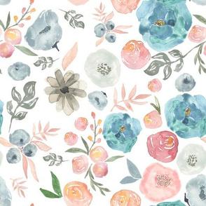 "10.5"" SOFT BREEZE FLOWERS / WHITE"