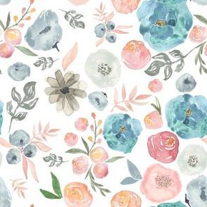 "8"" SOFT BREEZE FLOWERS / WHITE"