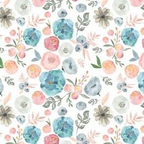"4"" SOFT BREEZE FLOWERS / WHITE"