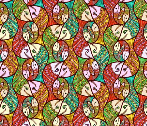 Happy_Fishies fabric by lilichi on Spoonflower - custom fabric