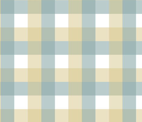 Sea Butter Plaid fabric by bluebirdcoop on Spoonflower - custom fabric