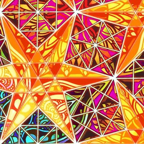 stained glass mosaic stars