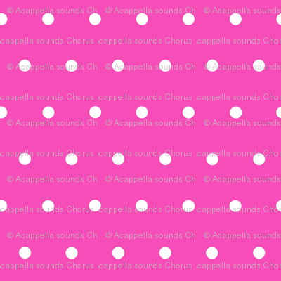 White Polka Dots on Pink