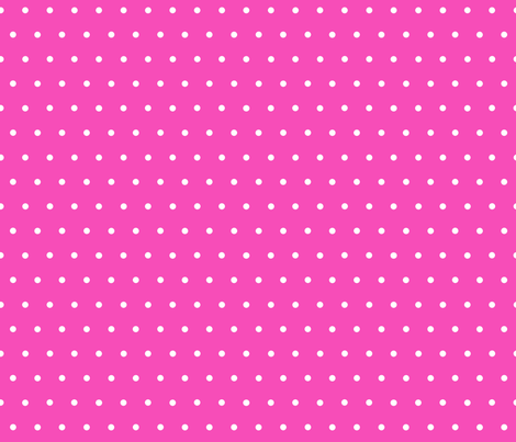 White Polka Dots on Pink fabric by acappellasoundschorus on Spoonflower - custom fabric