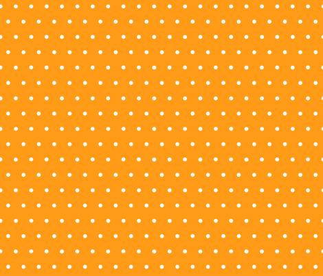 White Polka Dots on Orange fabric by acappellasoundschorus on Spoonflower - custom fabric