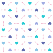 Cupid* (Blues) || arrow arrows heart hearts valentine valentines day love pastel