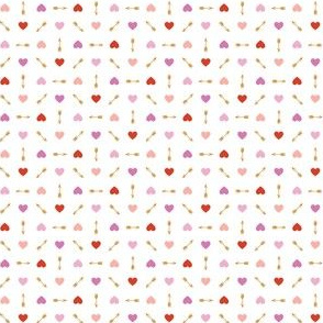 Cupid* (Reds & Gold) || arrow arrows heart hearts valentine valentines day love pastel mustard