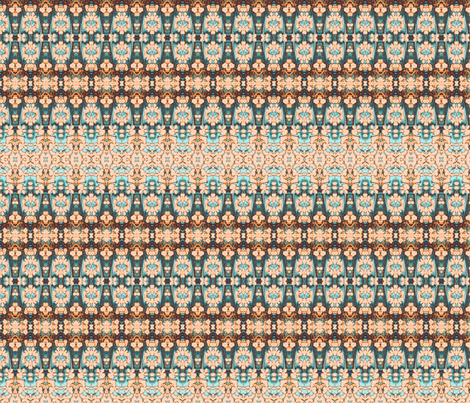 peach weave fabric by twigsandblossoms on Spoonflower - custom fabric