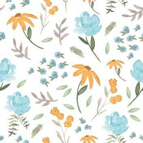 Bleu De Fleur | Watercolor Floral