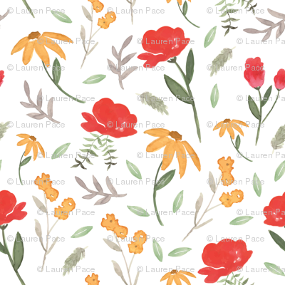 Sunshine Gardens | Watercolor Florals