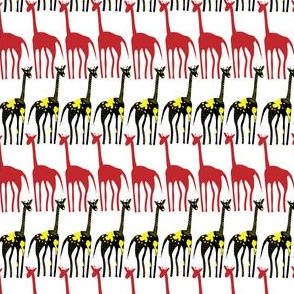 Black and red Giraffes