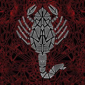 Shattered Scorpio mosaic