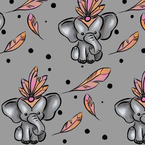 Pink Circus Elephant