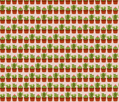 Succulents fabric by emandsprout on Spoonflower - custom fabric