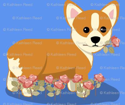blue_corgi_and_roses