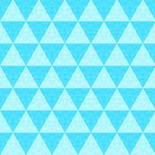 Aqua Teal mosaic triangle