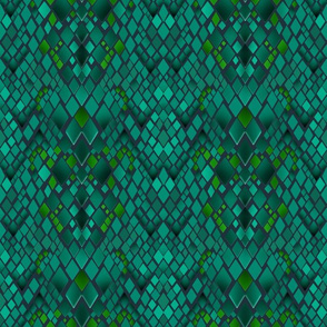 Turquoise digital abstraction . The skin of reptiles .