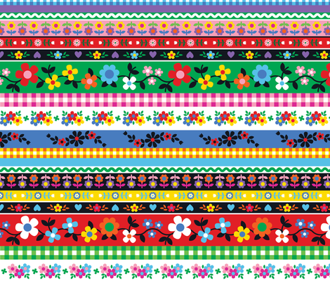Folkdance Ribbons fabric by drawpilgrim on Spoonflower - custom fabric