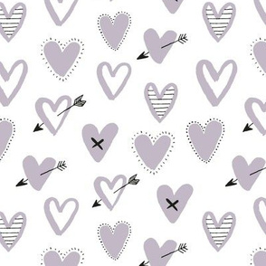 love hearts grey