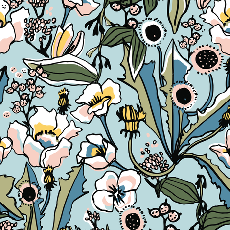 Spring floral fabric by lburleighdesigns on Spoonflower - custom fabric