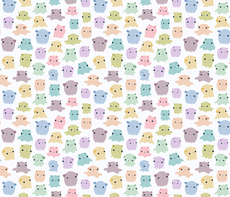 Dumbo Octopi fabric by mohu on Spoonflower - custom fabric