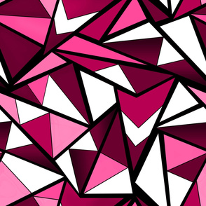 Black and pink geometric pattern .