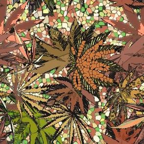 Camomoto Brown Mosaic