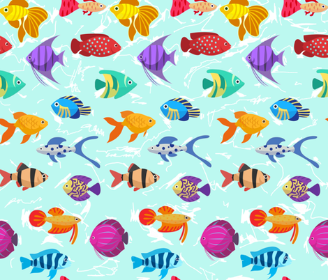 multifish fabric by andulin on Spoonflower - custom fabric