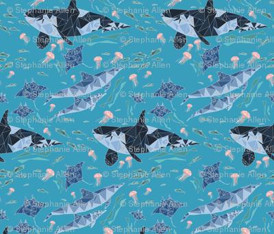 Geometric Ocean Animals