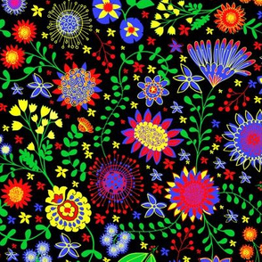 Swedish floral folk art