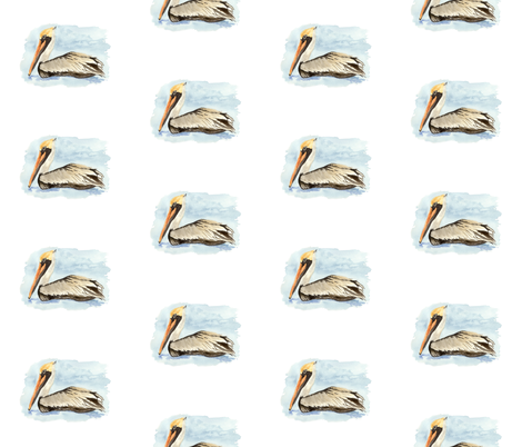Pelicans fabric by wrensroost on Spoonflower - custom fabric