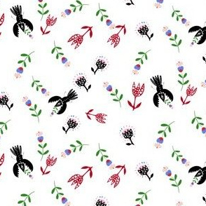 Crows and flowers