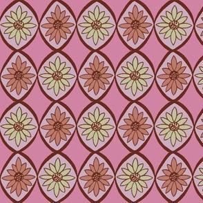 Retro Daisies Pink