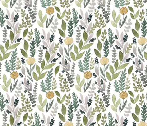 Spring Leaves fabric by bluebirdcoop on Spoonflower - custom fabric