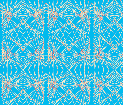 Geo on a string fabric by katawampus on Spoonflower - custom fabric