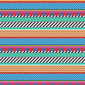 Colorful Washi Tape Stripes Zigzag Small