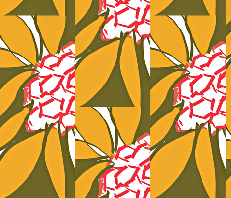 Hexagons in Nature fabric by menny on Spoonflower - custom fabric