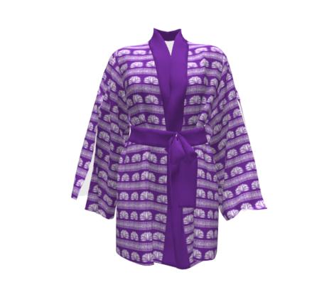 LOTUS STRIPE Purple and White