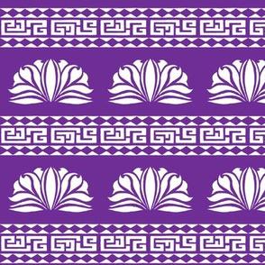 LOTUS STRIPE Royal Purple