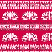 LOTUS STRIPE Chinese Red