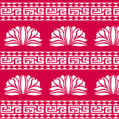 Chrysanthemum Stripe Red