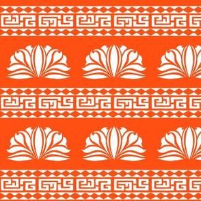 LOTUS STRIPE Bright Orange