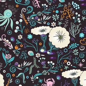 Subsea floral pattern