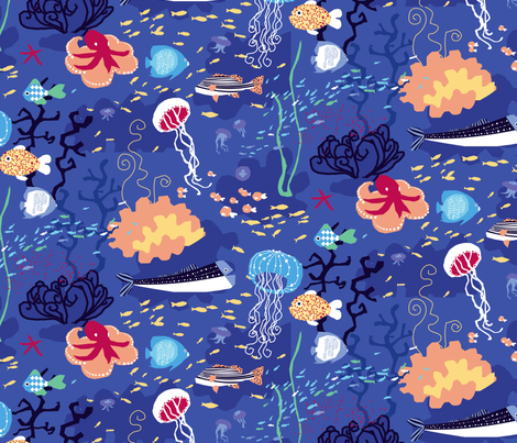 fishes fabric by lisahilda on Spoonflower - custom fabric
