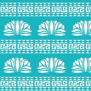 LOTUS STRIPE Aqua