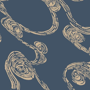 Indigo Batik Waves